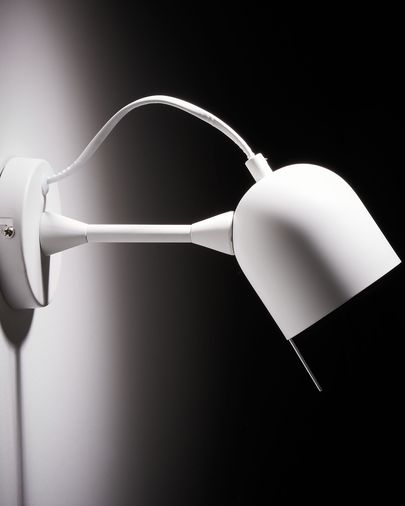 Lucilla wall lamp white