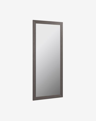 Miroir Yvaine 80,5 x 180,5 cm cadre épais avec finition foncée