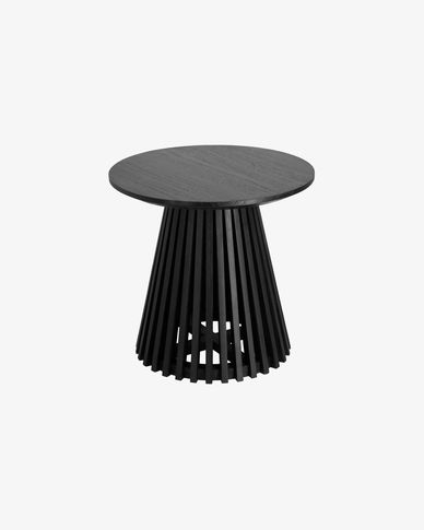 Jeanette Ø 50 cm black side table