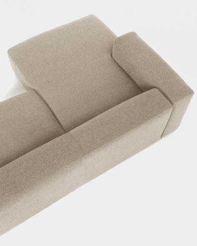 Canapé d'angle Blok 3 places fixe gauche beige 330 cm