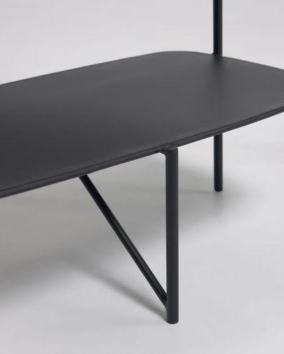Mesa de apoio Wigan metal preto 62 x 58 cm