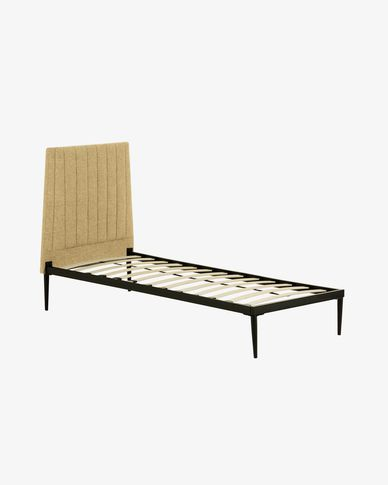 Nelly mustard bed with base 90 x 190 cm