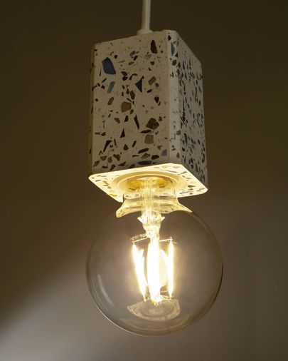 Vierkante plafondlamp Analia