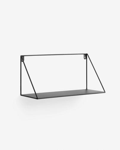 Estante Teg triángulo acero con acabado negro 40 x 20 cm