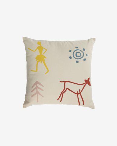 Itzayana 100% cotton multi-coloured cushion cover 45 x 45 cm