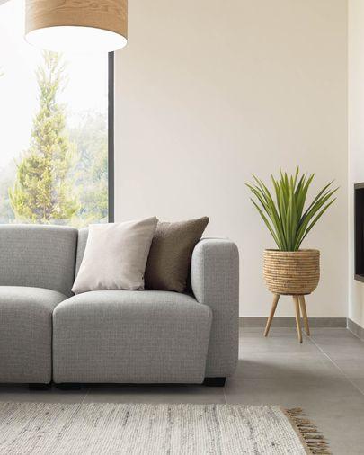 Grijze zitplaats Legara met armleuning aan de rechterkant 80 cm