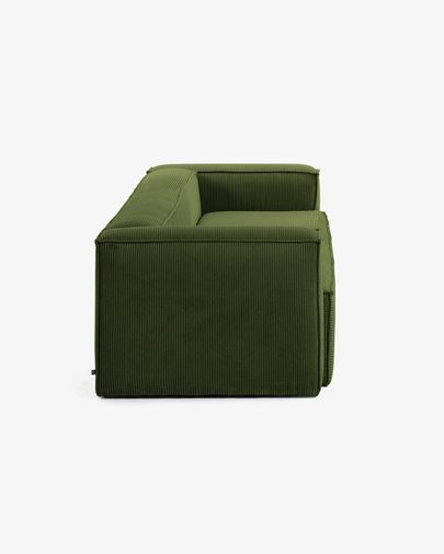 Blok 3-seater sofa in thick green corduroy 240 cm