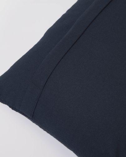 Funda cojín Adalgisa de algodón rayas blanco y negro 30 x 50 cm