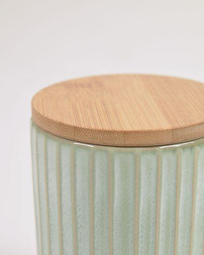 Bote grande Itziar de cerámica verde