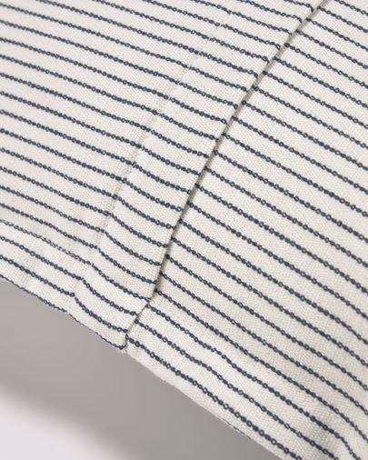 Poszewka na poduszkę Aleria bawełna w szaro-białe paski 60 x 60 cm