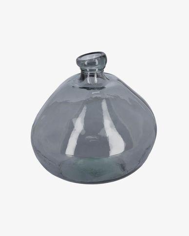 Jarra Brenna grande de vidro azul 100% recilcado