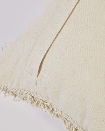 Funda cojín Agripa 100% algodón natural y negro 30 x 50 cm