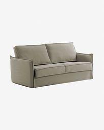 Samsa sofa bed 140 cm polyurethane beige