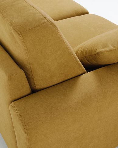 Narnia 3-seater sofa in mustard 192 cm