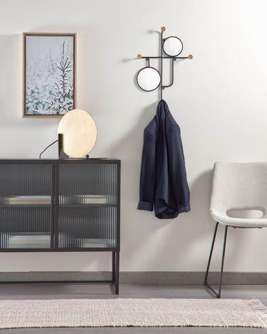 Vianela golden mirror with hangers 50 x 35 cm
