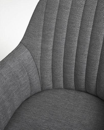 Cadira d'escriptori Madina gris fosc