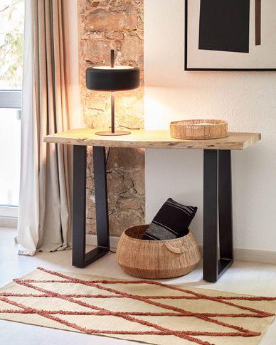 Consola Alaia de fusta massissa d'acàcia amb acabat natural 115 x 40 cm