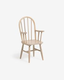 Daisa kids chair in solid rubber wood