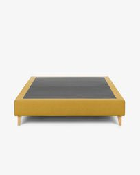 Bed base high Nikos 180 x 200 cm mustard