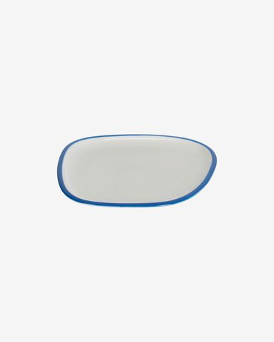 Odalin porcelain dessert plate in blue and white