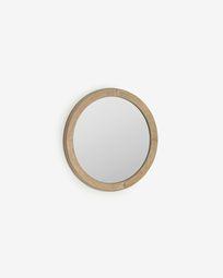 Espelho redondo Alum madeira maciça mindi Ø 50 cm