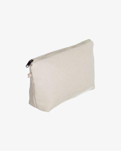 100% organic cotton (GOTS) Breisa wash bag in natural