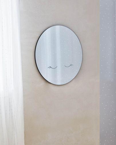 Espelho de parede redondo Ludmila lua Ø 50 cm