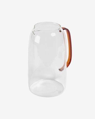 Brocca Coralie in vetro trasparente