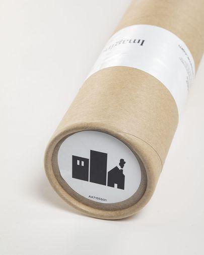 Sticker mural en vinyl Nisi imprimé bâtiments de 115 x 145 cm
