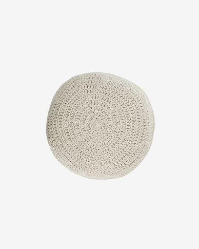 Fara round white cushion Ø 40 cm