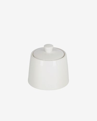 Pierina porcelain sugar bowl in white