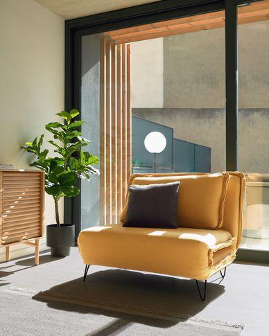 Miski sofa bed in mustard 105 cm