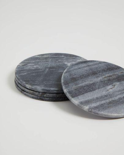 Set Tresa de 4 posagots marbre gris