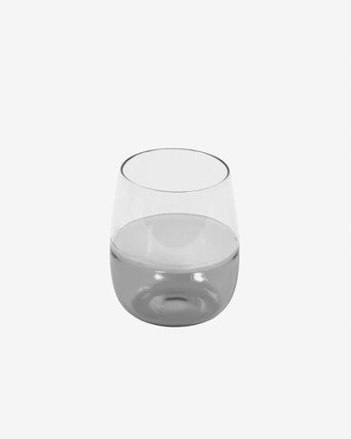 Bicchiere piccolo Inelia vetro trasparente e grigio