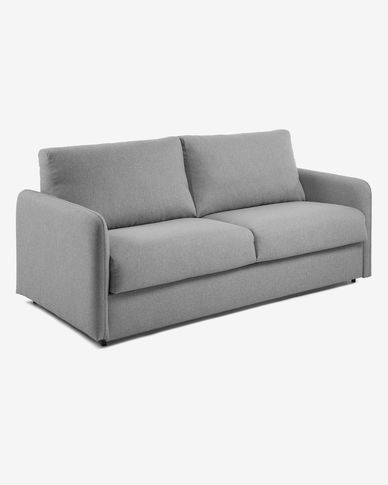 Kymoon sofa bed 140 cm polyurethane light grey