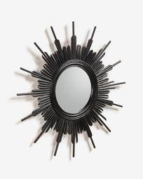 Marelli-spiegel Ø 70 cm met zwarte afwerking