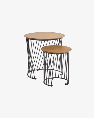 Set 2 tavolini Leska Ø 50 / Ø 35 cm