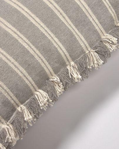 Sweeney Kissenbezug aus 100% Baumwolle mit grauen und weißen Streifen 45 x 45 cm
