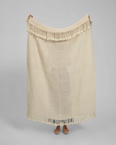 Manta Pearle 100% cotó blanc 130 x 170 cm