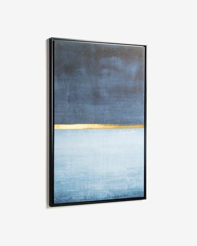 Quadro Wrigley 60 x 90 cm azul