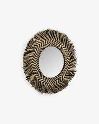 Espejo Takashi de fibras naturales Ø 60 cm