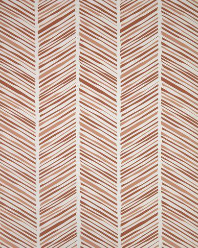 Uriana behang met bruine strepen 10 x 0,53 m