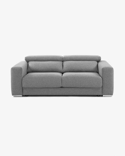 Divano Atlanta 3 posti grigio chiaro 210 cm