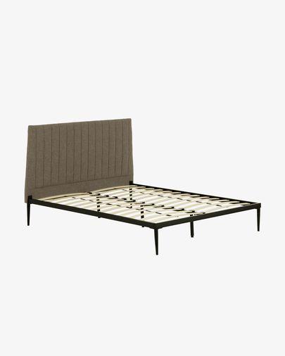 Bed met boxspring Nelly 150 x 190 cm grijs