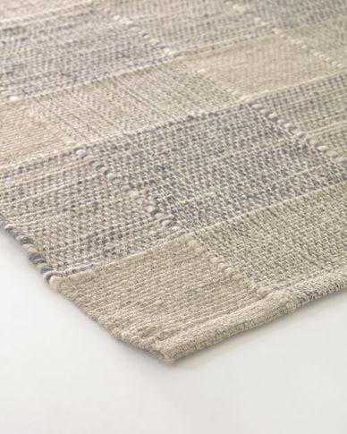 Tappeto Donata righe beige e grigi 160 x 230 cm