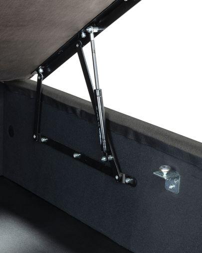 Aufbewahrungs- Bettgestell Matters 150 x 190 cm, anthrazit