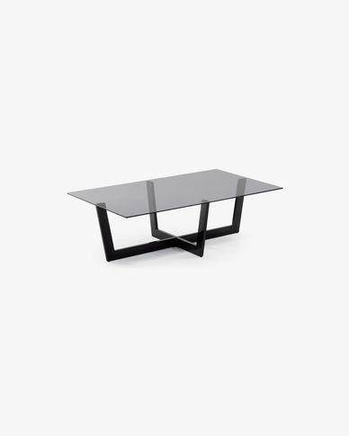 Tavolino Plam 120 x 70 cm vetro nero