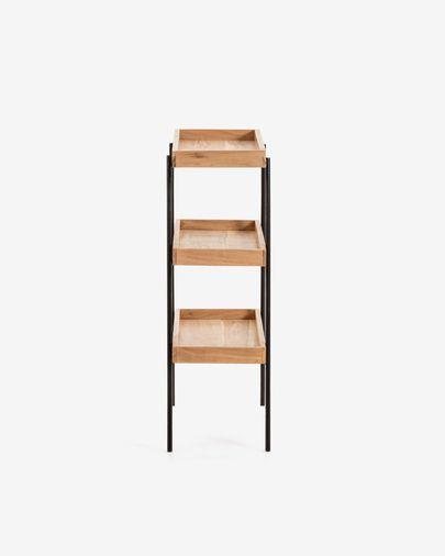 Estantería Basi de madera maciza de acacia 73 x 90 cm