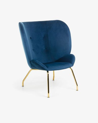 Blue velvet Violet armchair