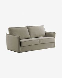 Samsa sofa bed 160 cm polyurethane beige